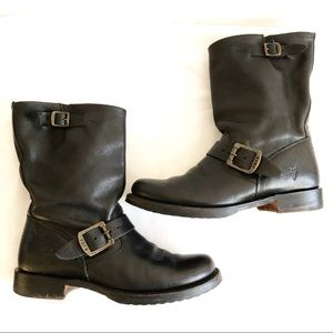 FRYE Black, Leather Short Boots